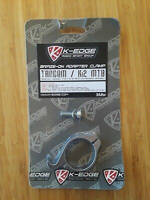 K-Edge Braze-on Adaptor Clamp 34.9 Gun Metal