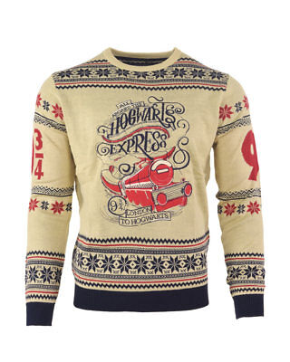 f65e4c699 Official Harry Potter Hogwarts Express Christmas Jumper / Ugly Sweater