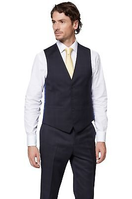 0c5cd7666595 MOSS 1851 MENS Navy Blue Waistcoat Tailored Fit Single Breasted Wool ...