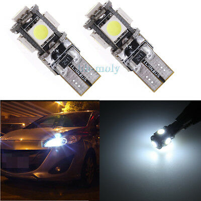 Seat Exeo 3R2 White 4-LED Xenon Bright ICE Side Light Beam Bulbs Pair Upgrade
