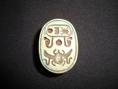 RARE ANCIENT EGYPTIAN ANTIQUE Scarab Stone Winged Scarab New Kingdom 1400 BC
