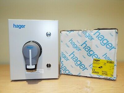 HAGER 32A Triple Pole TP&N Switch Disconnector / Isolator - JAB303