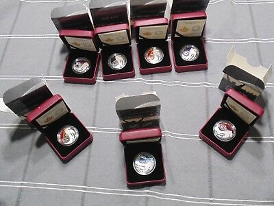 Very Rare Lot Of Nhl Coins All Canada Teams In .925 Silver Low Mintage Rare .