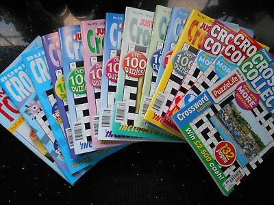 Puzzle Books - Crossword Magazines - Bumper,Just & Lucky Seven x 14 - FREE P & P