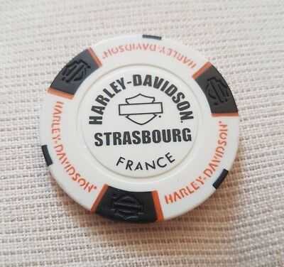 """1 originaler Harley Davidson Pokerchips "" Strasbourg France """