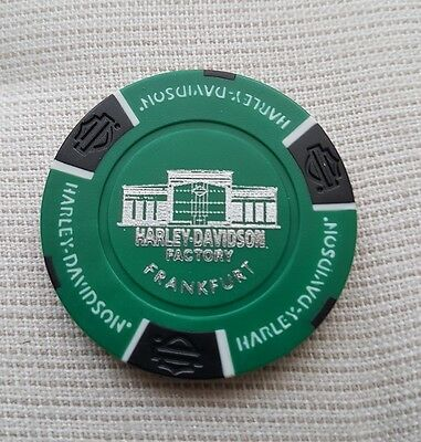 "Neues Logo""1 originaler Harley Davidson Pokerchips "" Factory Frankfurt  Germany"""