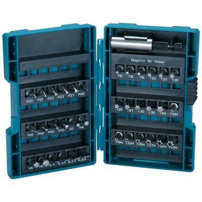 Makita B-28606 Screwdriver Bit Set Pozi Hex Torx Slotted Phillips In Case 37Pc