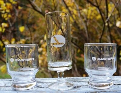Set Of 3 New Eastern Airlines First Class Shotglasses
