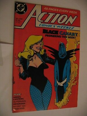 Action Comics Weekly #609 Black Canary Deadman DC  FN 1988 P&P Discounts