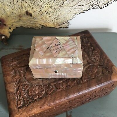 Antique Mother of Pearl Victorian Miniature Box