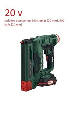 Parkside  nail gun  Staple Gun Cordless Electric Heavy Duty Stapler Nailer 20 V