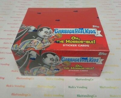Topps Garbage Pail Kids Oh The Horror-ible Sticker Cards Sealed Box 24 Pack of 8