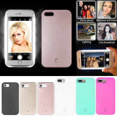 Selfie LED Light Up Bright Phone Back Case Cover For iPhone 6/6S 6/6s Plus