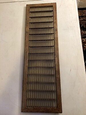N6 Antique Sheet Metal Cold Air Return/heating Grate