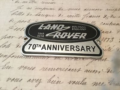 Land Rover 70 Th Anniversary Car Badge Owners Collectable Defender 90 110