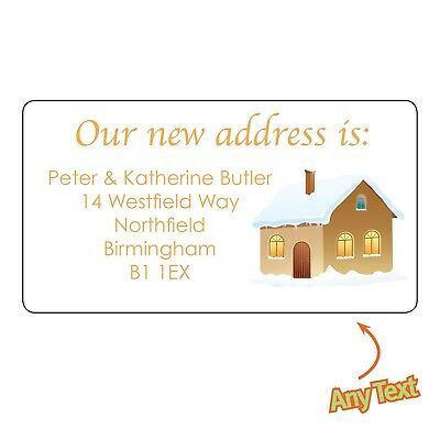 24 X Personalised New House Home Moving Our Address Labels Stickers 1138