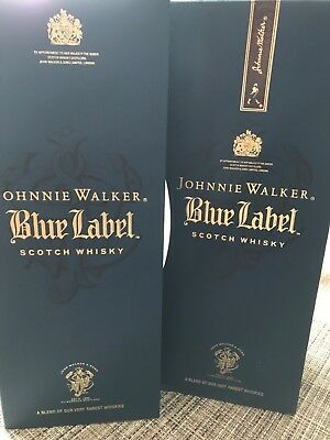 johnnie walker bluelabel box empty with gift box as seen in pictures
