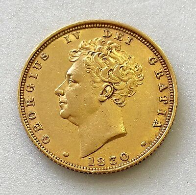 George Iv 1830 Sovereign   ®-1286