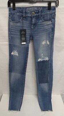 9ddcb7bf NWT Blue Jeans AMERICAN EAGLE OUTFITTERS 360 Super Stretch JEGGING Size 00  Long
