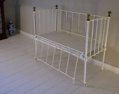Beautiful Victorian Wrought Iron Cot in Exceptional Condition
