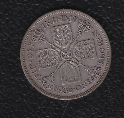 Great Britain 1 Florin 1936 Silver