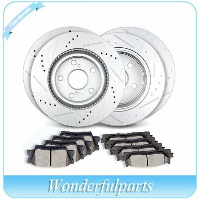 Front Rear Brake Rotors Ceramic Pads Fit 2008 2009 2010 2011 Toyota Avalon Camry