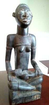 Antique African Yombe Maternity Figure - CONGO - Early to Mid 20th Century