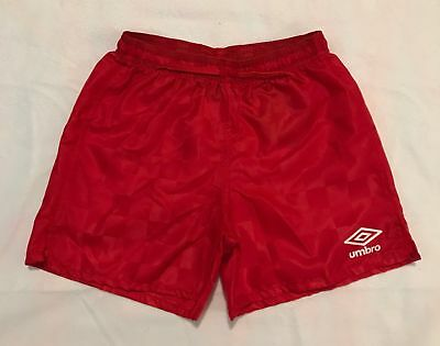NEW Umbro Soccer Athletic Gym Shorts Red Check Youth Size XS