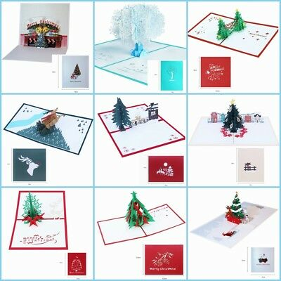 3D Money Tree Paper Invitation Greeting Card Postcard New Year Business Gift S