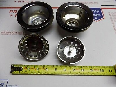 Vintage NOS Lot of Two Kitchen Sink Basket Strainer One Youngstown One Unmarked