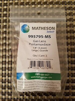 """Matheson Select 995795-MS Gas Lens Large 1/8"""" 2 Pieces New in Package"""