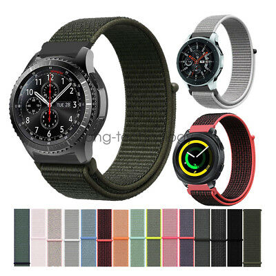 Woven Nylon Sport Loop Wrist Strap For Samsung Gear S3 Sport Galaxy Watch Band