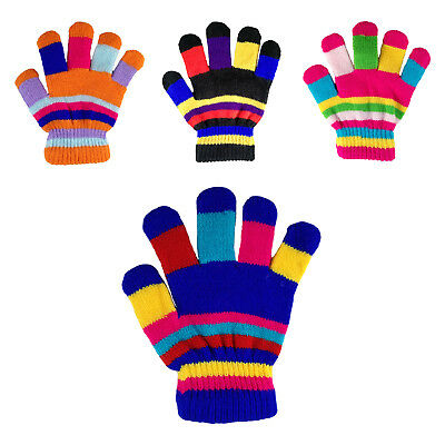 Children's Kids Magic Gloves Rainbow Fingers Boys Girls Winter Warm Hand Care