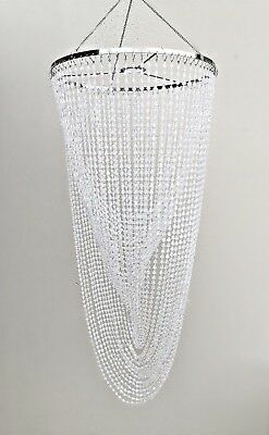 Clear Acrylic Beaded Chandelier Lamp shade Ceiling Lamp Fittings