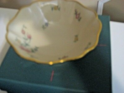 """Pretty Lenox """"floral Garden: Ring Dish With Original Box - Made In Usa"""