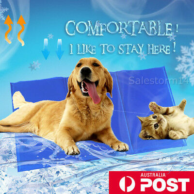 Pet Cool Gel Mat Dog Cat Bed Cooling Pad Seat Cover Non-Toxic Summer 5 Sizes OZ