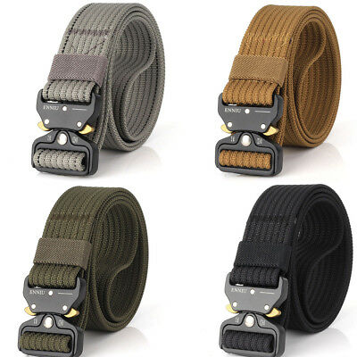 Mens Heavy Duty Military Belt Tactical Army Hunting Outdoor Utility Waistbands