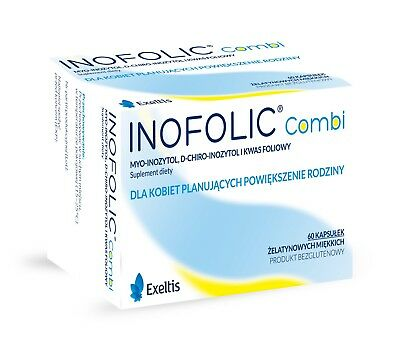 Inofolic Combi 60 Caps Pregnancy Ovulation PCOS Treatment SAME DAY DISPATCH UK
