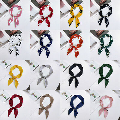 Band Hair Rope Wristband Wrap Silk Feel Satin Small Scarf Neckerchief Bags Tie