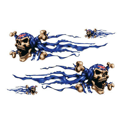 2x Skull Eagle Flame Sticker Motorcycle ATV Racing Bike Decal 18*25cm