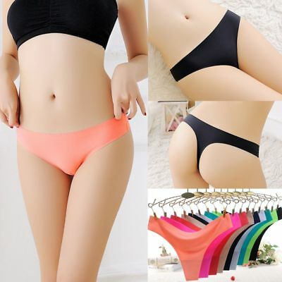 Women Seamless Invisible Underwear Soft Thongs Briefs Lingerie G-string Panties-