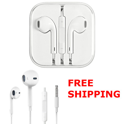 OEM 2X Headphones Earphones With Remote & Mic For Apple iPhone 5 6 5S 4S