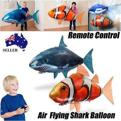 Air Swimmers Remote Control RC Flying Nemo Shark Inflatable Balloon Toy Kid Gift