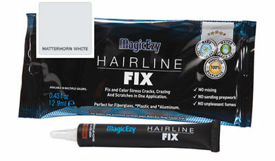 MagicEzy Hairline Fix (Matterhorn White) Fill & Color Gelcoat Scratches & Cracks
