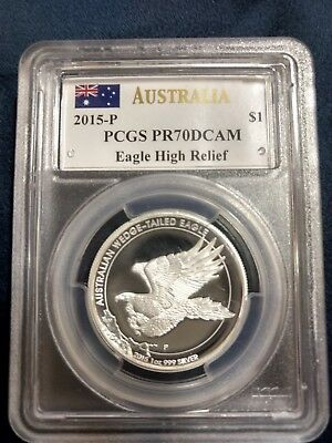 2015 Australia Wedge Tailed Eagle High Relief Proof Pcgs Pf70