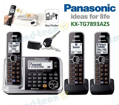 Panasonic Kx-Tg7893Azs Triple Cordless Phone System Link-To-Cell Key Find Rp$179