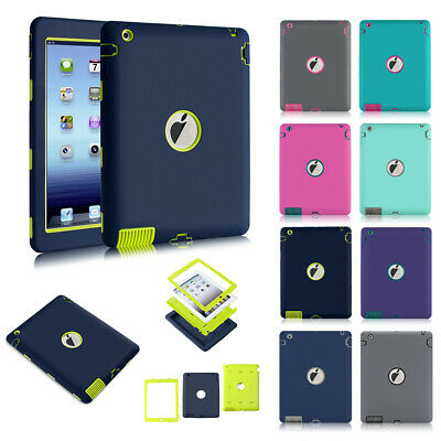Heavy Duty Rugged Shockproof Armor Defender Protective Case Cover For iPad 2/3/4