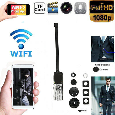 1080P HD Mini Wireless WIFI IP Spy Camera Hidden Home Surveillance Camcorder CA