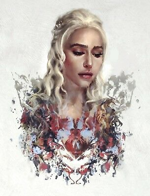 Game Of Thrones - Daenerys Targaryen Poster Print - Wall Art - Buy 2 Get 1 Free