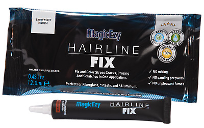 MagicEzy Hairline Fix (Snow White) : Fill & Color Gelcoat Scratches & Cracks